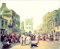 John Mulvany's painting of Kilmallock, County Limerick c.1800. (Courtesy of The National Gallery of Ireland)