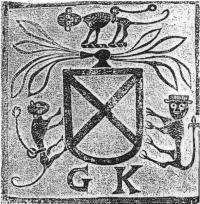 A stone rubbing of a 1578 version of theFitzgerald arms.