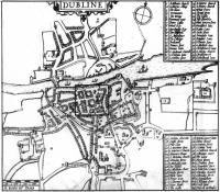 John Speed's 1610 map of Dublin.