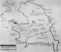 Fig.1 Part of William Petty's Down Survey 1655-57- a seventeenth century precedent for state involvement in mapping.(Courtesy of the National Library of Ireland)
