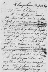 Pat Carroll's letter from Clare to hisdaughter and soncin-Iaw in Victoria, 23 December 1869. (COURTESY OF MRS P.C. NOTTLE)