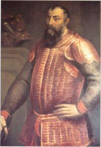 Reputed portrait of Hugh O'Neill, Earl of Tyrone, From an original in the Vatican(Courtesy of Lord Dunsany)