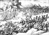 Dutch print illustrating the battle of Aughrim, 12 July 1691.