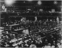 The second Dail in the Mansion House,Dublin, August 1921.