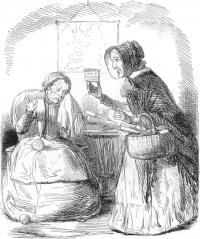 Irish panacea. (PUNCH) Peel presentsRussell with a panacea for the 'dreadful Irish toothache'-the encumbered estates bill.