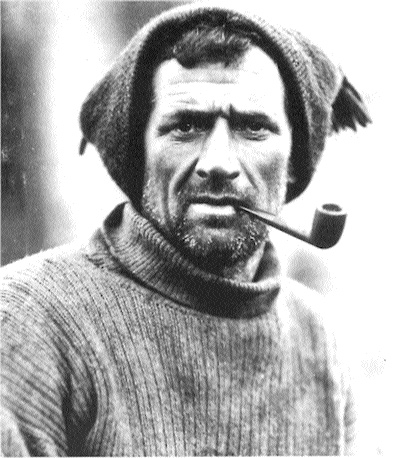 Tom Crean in 1915 on board Endurance, ice-bound in the Weddel Sea. (Scott Polar Research Institute, Cambridge)
