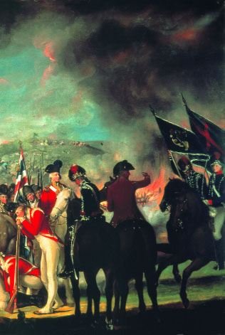 The Battle of Ballynahinch, 1798 [detail] by Thomas Robinson. (Office of Public Works)