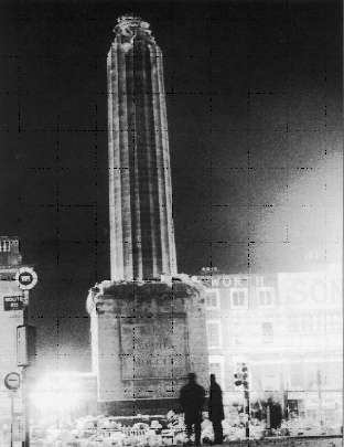 The blowing up of Nelson's Pillar in March 1966-an unofficial gesture that created the iconic image of the jubilee year. (Irish Times)