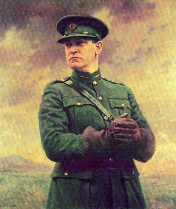 Michael Collins by Leo Whelan-remembered primarily as a realist. (OPW)
