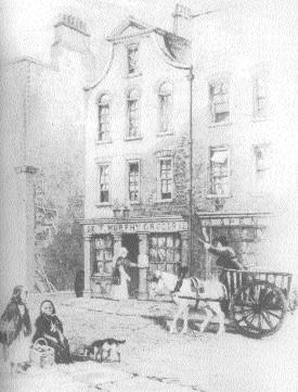 Moore's birthplace on Aungier Street, now J.J. Smyth's Blues Bar.