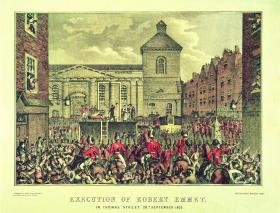 Execution of Robert Emmet, in Thomas Street, 20th September 1803. (National Library of Ireland)