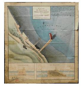 OPW plan of a pier at Newcastle, Co. Down, 1828 class 26.