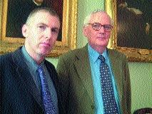 James McGuire (right) with James Quinn, Executive Editor.