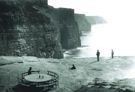 The iron picnic table built by O'Brien for the convenience of visitors. (National Library of Ireland)