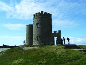 O'Brien's Tower, the Cliffs of Moher's first 'visitor centre', described by Samuel Lewis in 1833 as 'an ornamental building in the castellated style'. (Perry McIntyre)