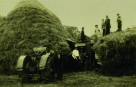 Members of the Pearson family at work on their land at some time before the killings. (RTÉ Stills Library)