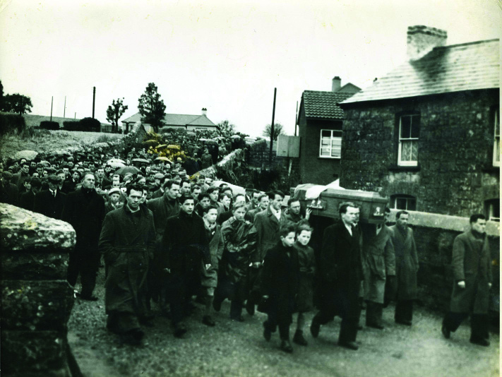 The funeral of Fergal O'Hanlon to St Macartan's Cathedral, Monaghan. (An Phoblacht)