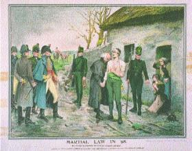 'Martial law in '98', from a painting by Henry Allan, The Weekly Freeman, 15 June 1898. (National Library of Ireland)