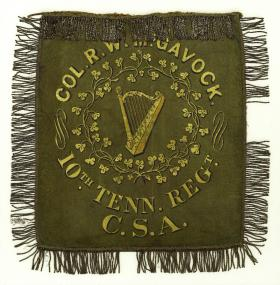 Guidon of McGavock's 10th Tennessee Infantry Regiment, the only designated Irish unit in the Confederate Army.