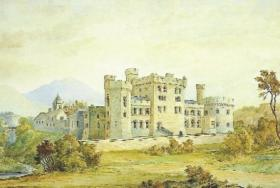 Watercolour proposals for Glenstal Castle attributed to its architect, William Bardwell, 1836. (Glenstal Abbey)