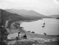 Teelin Harbour, Co. Donegal (near Slieve League)—in 1925 one of the 'congested districts' affected by a combination of crop failure, waterlogged turf and a crisis in the fishing industry. (NLI)