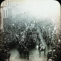 The funeral of Charles Stewart Parnell—one of many photographs that add atmosphere to the gallery.