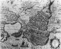 Map of Syracuse from Sicilia antiqua by Philippus Cluverius(1580-1622) - Dr Bouhereau Collection.