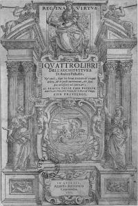 Title page of I quattro libri dell'architettura by Andrea Palladio (1508-80) - Archbishop Smyth Bequest