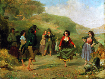 Trevor Fowler's Children Dancing at a Crossroads-an identical subject viewed through mid-nineteenth-century eyes. (National Gallery of Ireland)