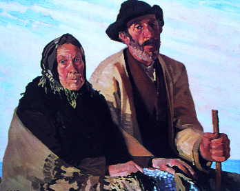 Lamb's A Quaint Couple, 1930-by this time the artist's eye had become more attuned to western dress and lifestyle. (Crawford Municipal Art Gallery, Cork, courtesy of the artist's estate)