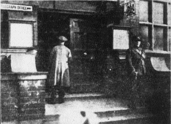 The Central Telegraph Office, Amiens street being closed in consequence of the officials' strike. A large picket stationed here was placed under arrest after having been warned to disperse'. (Freeman's Journal, 12 September 1922)