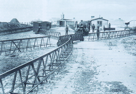 The Lartigue railway in north Kerry paid part of the cost for the development of Ballybunion Golf Club. (National Library of Ireland)