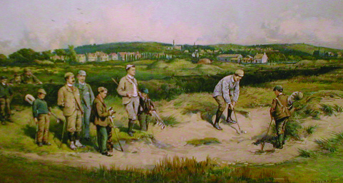 This early twentieth-century print indicates that golf was clearly popular amongst all age groups.
