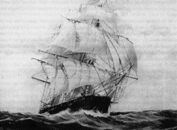 Hercules, a converted Russian merchant ship-flagship of Brown's improvised navy in 1814.