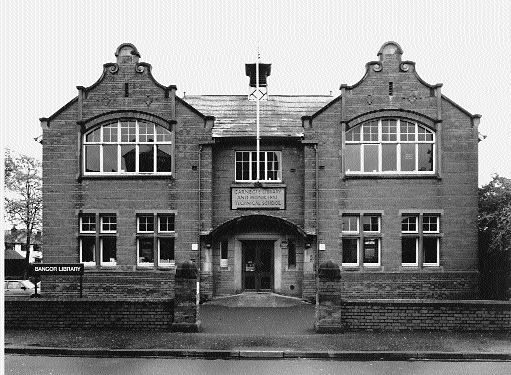 Bangor Library, County Down, designed by E.L. Wood, opened in 1910, as both a school and a library.