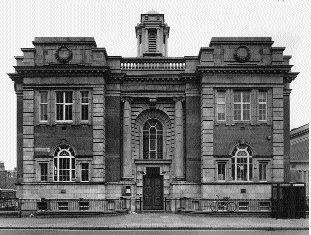 Rathmines library, Dublin, designed by Batchelor and Hicks and opened in 1913.
