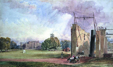 A contemporary painting of Lord Rosse's giant telescope at Birr Castle, Co. Offaly.