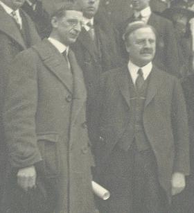 Dev with Judge Daniel Cohalan—their personality differences masked a deeper ideological conflict between the Irish-American nationalism represented by the Friends and the Irish nationalism of Sinn Féin. (De Valera Papers, UCD Archives. Courtesy of the UCD-OFM Partnership)