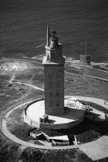 The real 'tower of Bregon'-a third century AD Roman lighthouse still standing in Coruí±a [Brigantia or Brigantium]. (C. Picallo)