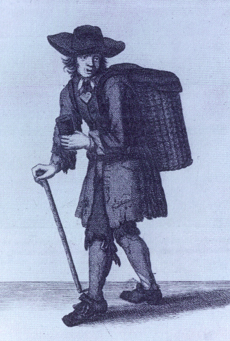 'Remember the Poor Prisoners'-an Englishman collecting alms for the redemption of slaves, from Marcellus Laroon's The cryes of the City of London (London, 1688). (Folger Shakespere Institute)