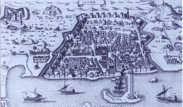 A view of Algiers from Pierre de Montmartin's Neuwe Archonologia Cosmica (Frankfurt, 1646). (Library of Congress)