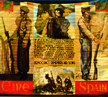Memorial banner of the Irish section of the International Brigade.