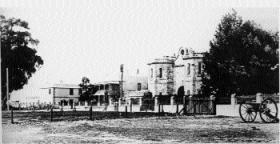 Freemantle prison, where O'Reilly was held, c.1860. (Battye Library)
