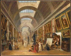 La Grande Galerie du Louvre in 1796 (though when Tone visited the skylights had not yet been added)—Tone enjoyed visiting the newly created Muséum Central des Arts housed here, where admission was free. (RMN, Paris)