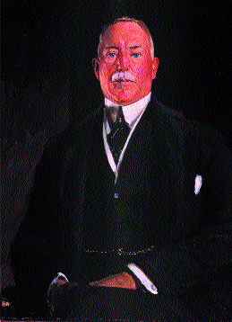 Sir James Craig-his worsening relationship with Londonderry contributed to the latter's resignation in January 1926. Both painting by Sir John Lavery. (by courtesy of Felix Rosensteil's Widow & Son Ltd., London, on behalf of the Estate of Sir John Lavery)