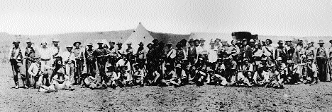 MacBride's Brigade at their camp outside Ladysmith. (Davitt, The Boer Fight for Freedom [1902])