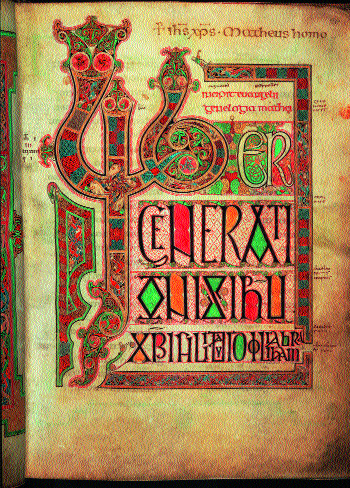 The opening page of St Matthew's Gospel from the Lindisfarne Gospels. (British Library)