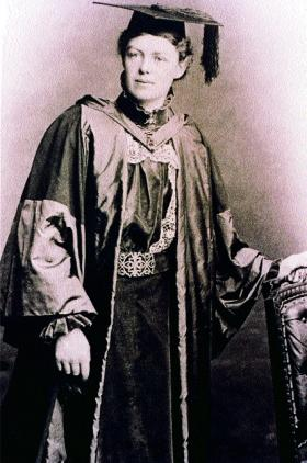 Emily Dickson on graduation from the Royal College of Physicians in 1891. (The author)