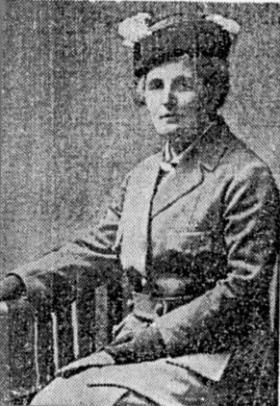 Elizabeth Bell—a supporter of the women's suffrage movement and a friend and ally of Mrs Pankhurst and Lady Balfour. (The author)