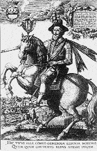 Handbills of Essex, Mountjoy and Cromwell, each depicted as the conquering general on a rearing horse.